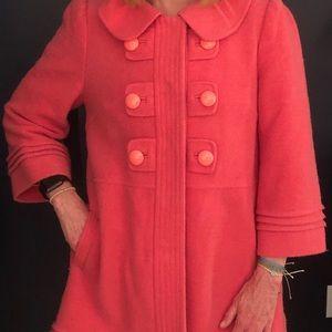 Jackets & Blazers - Melon Colored Wool Coat